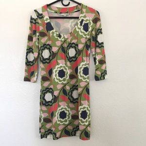 Boden Floral Retro Tunic Dress Size 4 UK 8